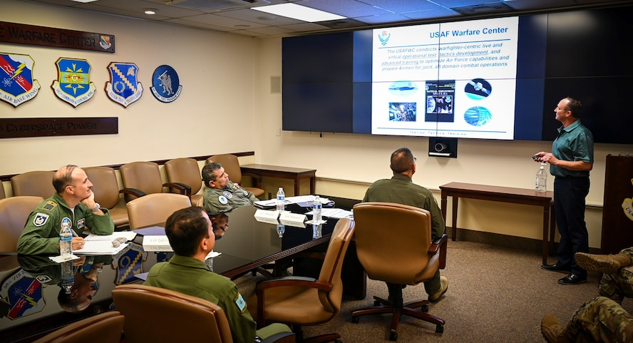 USAFWC director of staff briefs Foreign Liaison Officers