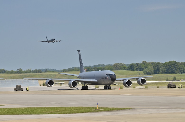 KC-135R Takes Off During Training Mission