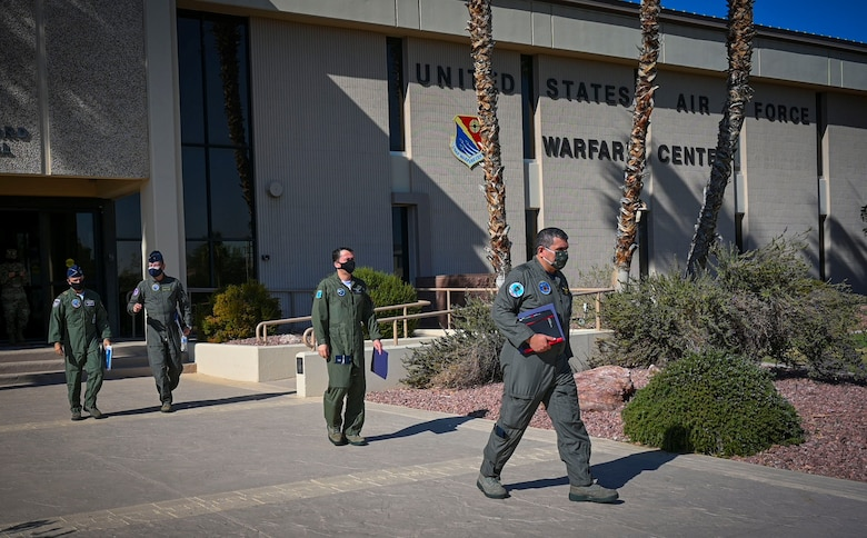 Foreign Liaison Officers walk out of USAFWC
