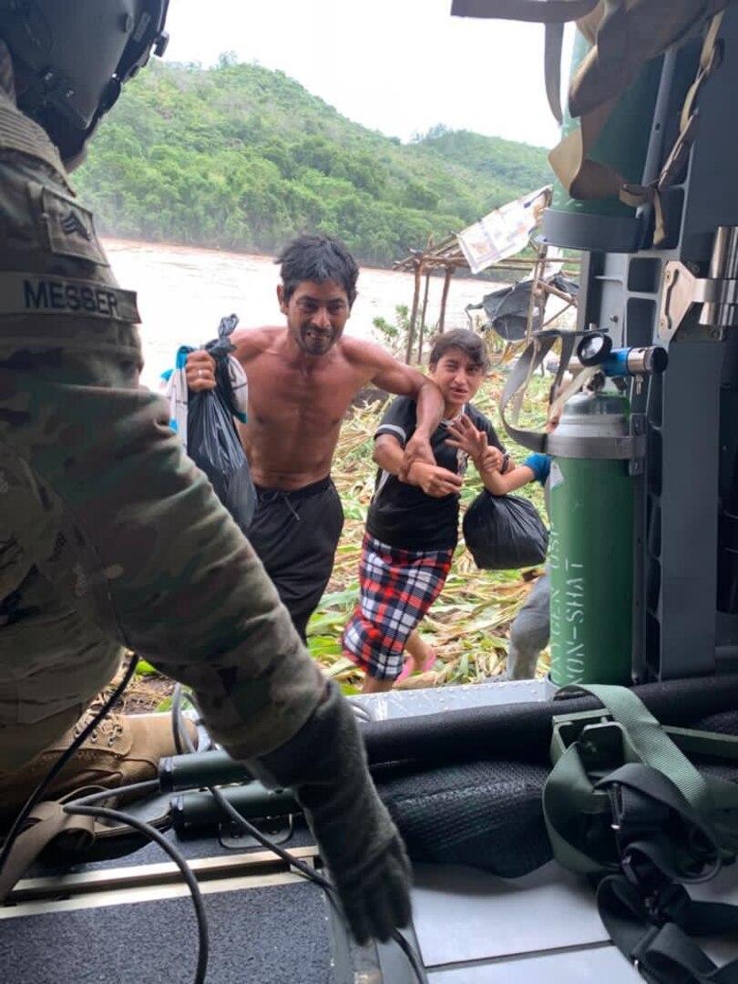 FTC-Bravo rescata víctimas de la Tormenta Eta