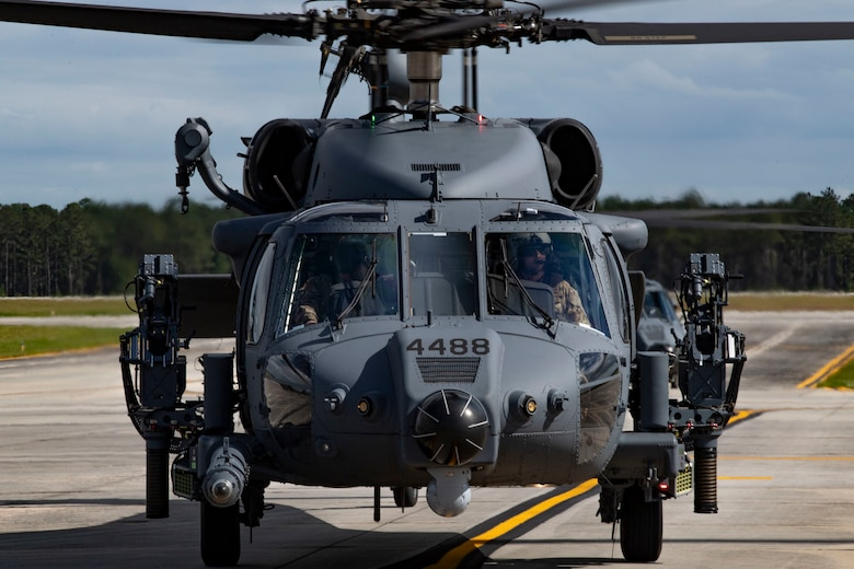 Photo of first HH-60W Jolly Green II Nov. 5, 2020, at Moody Air Force Base