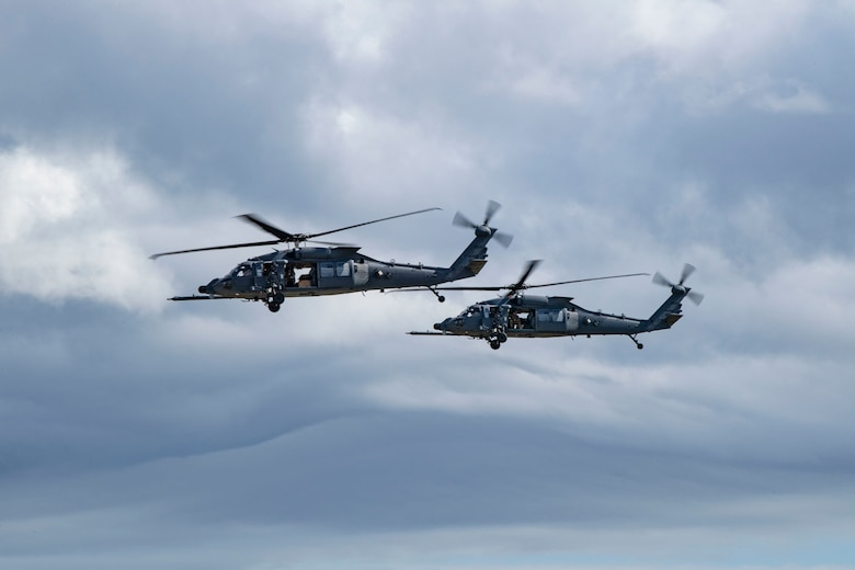 Photo of Two HH-60W Jolly Green IIs at first arrival Nov. 5, 2020, at Moody Air Force Base,