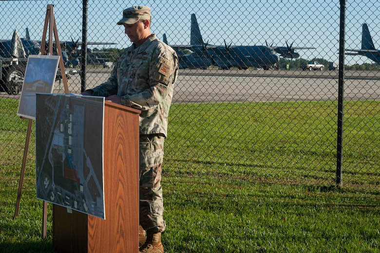 Photo of an Airman speaking