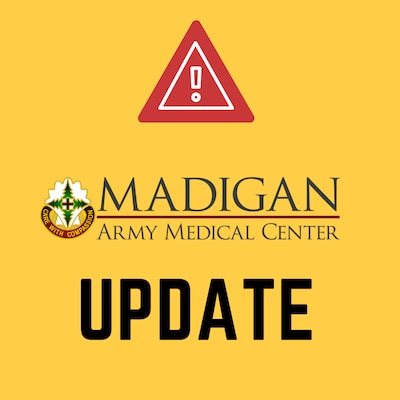 Most of Madigan's phone lines at the main facility at JBLM are currently out of order. #TeamMadigan and #JBLM are working the problem but unfortunately we do not have an estimated time phone service will be restored. We will keep you updated on the work and once the repairs are complete. This interruption of phone service includes the pharmacy.