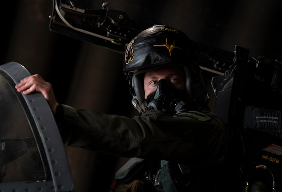 An F-15C Eagle pilot assigned to the 493rd Fighter Squadron maintains visual communication with his crew chief during pre-flight checks in support of exercise Crimson Warrior at Royal Air Force Lakenheath, England, Nov. 6, 2020. Multi-domain integration exercises like Crimson Warrior strengthen NATO interoperability and test high-end capabilities in a contested, degraded, and operationally limited environment. (U.S. Air Force photo by Airman 1st Class Jessi Monte)