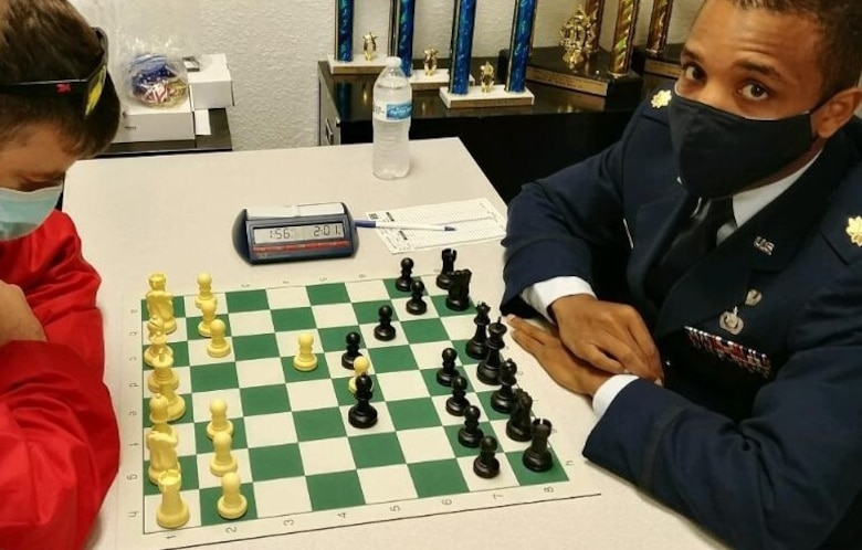 Maj. Gordon Randall, director of operations, 88th Comptroller Squadron, competes to finish second in the Air Force and fourth overall in the 61st annual U.S. Armed Forces Chess Championship, Oct. 10-12 in Virginia Beach, Va. Between 2006 and 2020, Randall participated in the U.S. Armed Forces Chess Championship 10 times and in 149 total national and international tournaments. CONTRIBUTED PHOTO