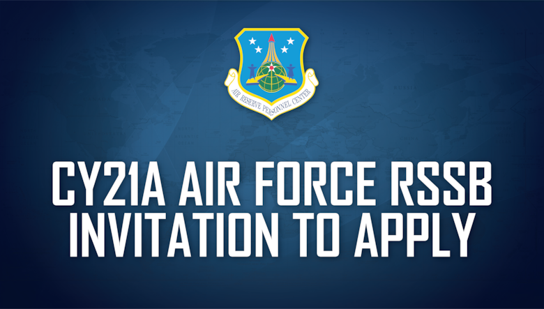 CY21A Air Force Reserve School Selection Board Invitation to Apply