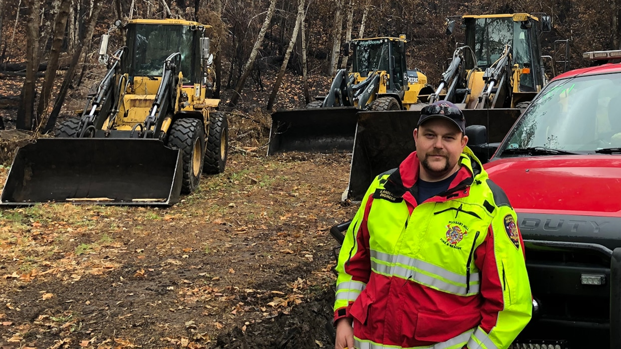 Kyle Anderson, a Corps' electrician at Lookout Point Dam is also a volunteer firefighter who was called into action when the Holiday Farm Wild Fire threatened his his hometown of Pleasant Hill, Oregon.