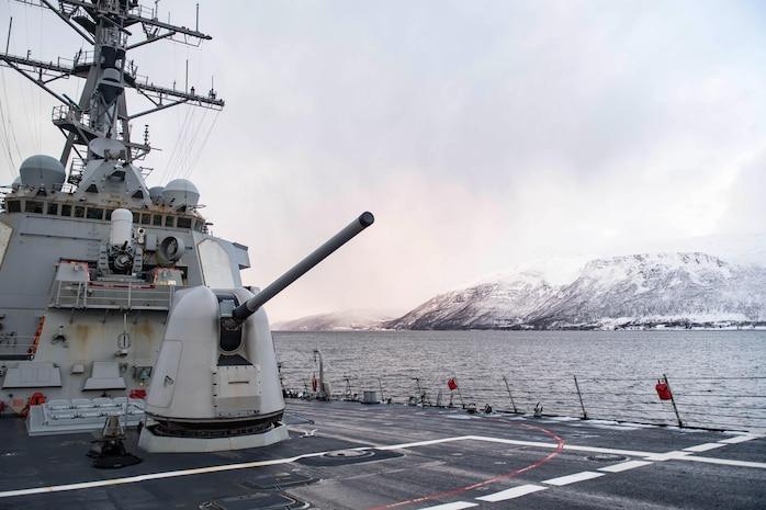 USS Ross; Norwegian Sea