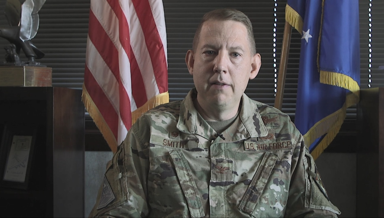 The commander of the Peterson-Schriever Garrison tells his troops about the Combined Federal Campaign.