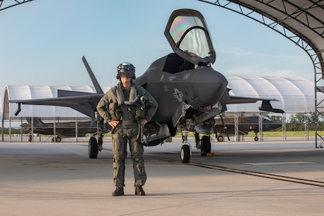 U.S. Marine Corps, Major Gen. Christopher Mahoney, the 3rd Marine Aircraft Wing (MAW) commanding general, traveled to Marine Corps Air Station Beaufort, South Carolina, to obtain his initial qualification to operate the F-35, September 3, 2020.