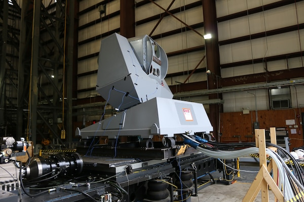 """IMAGE: Dahlgren, VA. – When you hear a high-energy clamor coming from Naval Surface Warfare Center Dahlgren Division (NSWCDD), you're likely hearing ordinance qualification testing done by Dahlgren's test and evaluation division. Every product, including the one pictured, must first be qualified for release. """"Dahlgren is all about weapons systems and developing material to go out into the fleet to help the warfighter,"""" said Shawn Schneider, vibration subject matter expert. Environmental testing is split into dynamic and climatic testing. """"We owe it to the warfighter to make sure that we do the right tests."""" Schneider continued, """"There's no one size fits all, easy answer, to what vibration testing entails. Everything is tailored."""" NSWCDD's move to a test and evaluation team with greater engineering competency has propelled the organization's capacities forward.  Barry Mohle, NSWCDD test and evaluation division head, says NSWCDD's impact on the DoD goes even beyond their testing capabilities. (U.S. Navy photo/Released)"""