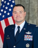 Col. Michael Parks, 507th Air Refueling Wing commander, stands for an official portrait Nov. 4, 2020, at Tinker Air Force Base, Oklahoma. (U.S. Air Force photo by Lauren Kelly)