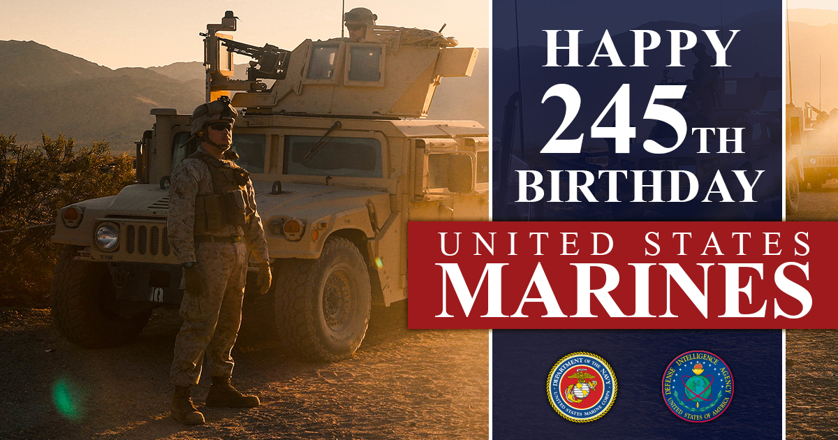 Dia Remembers The Legacy Of The United States Marine Corps On Its 245th Birthday Defense Intelligence Agency Article View