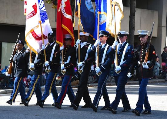 military Veterans Day parade