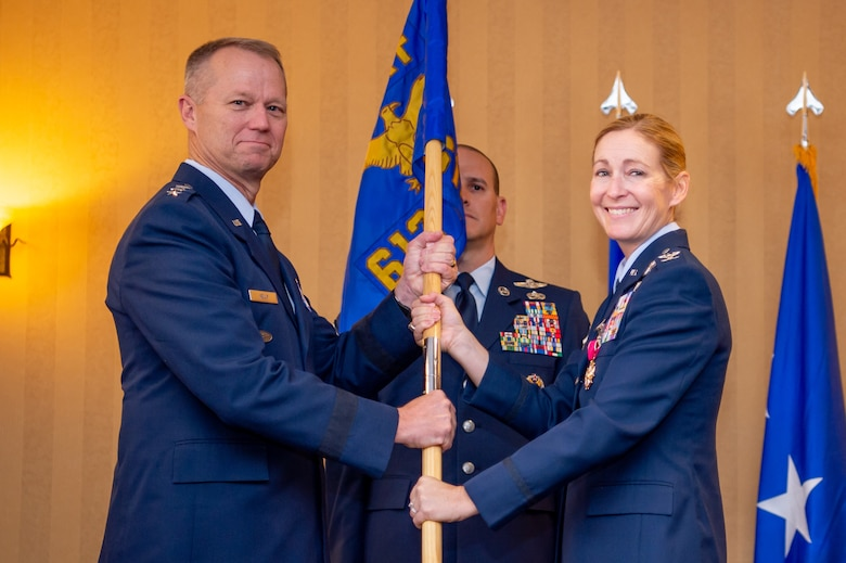Col. Kim Campbell, pictured on the right, is currently the Director of the Center for Character and Leadership Development. Throughout her career, she has held multiple command positions including the 612th Theater Operations Group Commander & 474th Air Expeditionary Group Commander at Davis-Monthan Air Force Base, Arizona.