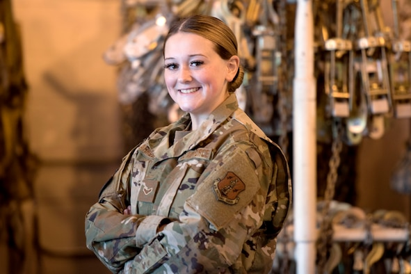 Airman 1st Class Julianne Arnold, an air transportation specialist for the 167th Airlift Wing, alerted emergency services to the home of a women battling COVID-19, Oct 15, 2020. Arnold has been serving on the West Virginia National Guard's epidemiology task force since August, and called the women as part of her duties assisting the Jefferson County Health Department.