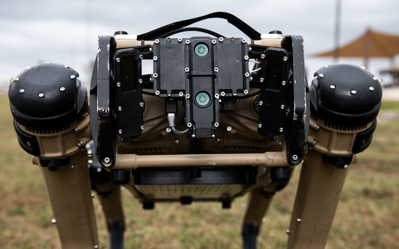 unmanned ground vehicle head on