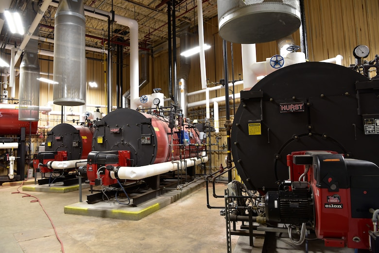 The OC-ALC installed new distributed heating systems to replace the old centralized boiler plant that provided steam to ten large facilities on base.