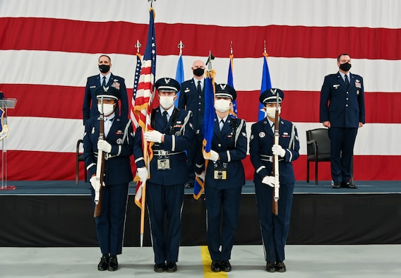 The 507th Air Refueling Wing welcomes a new wing commander, Col. Michael Parks, during a change of command ceremony Nov. 8, 2020, at Tinker Air Force Base, Oklahoma. (U.S. Air Force photo by Senior Airman Mary Begy)