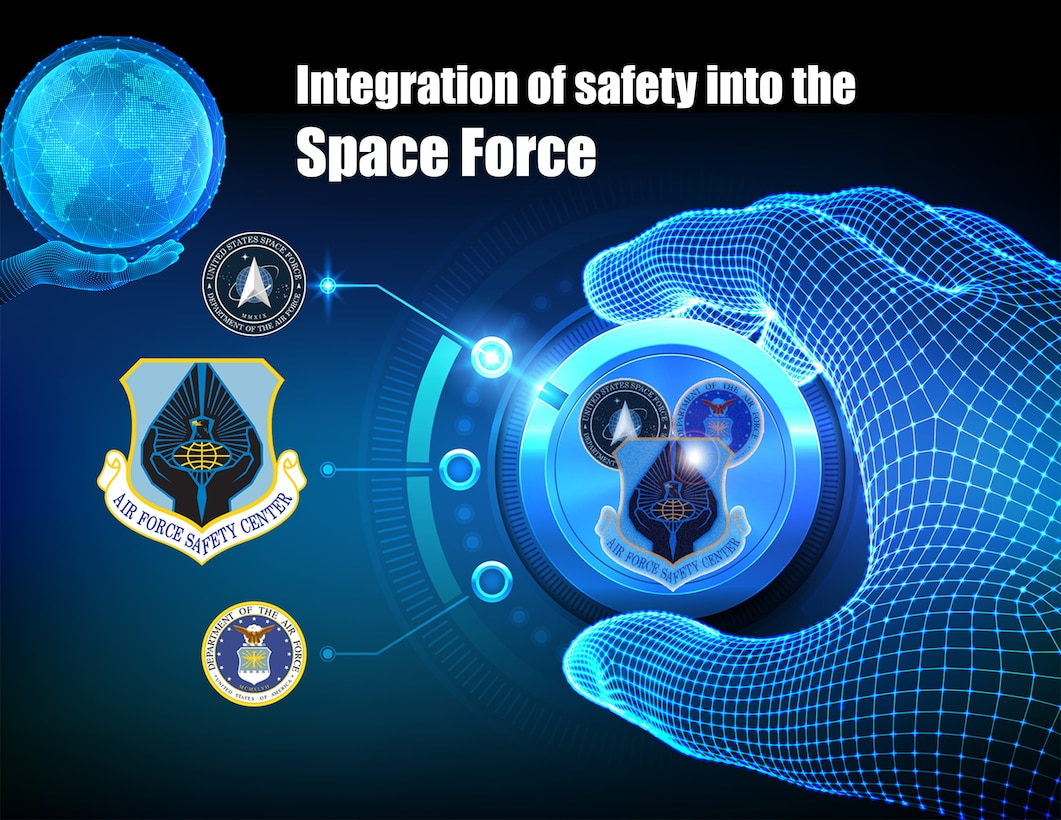 A graphic about AFSEC integrating safety programs and policy's in the Space Force