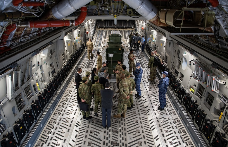 U.S. Military, Japan Self-Defense Force leadership and other service members discuss mission operations