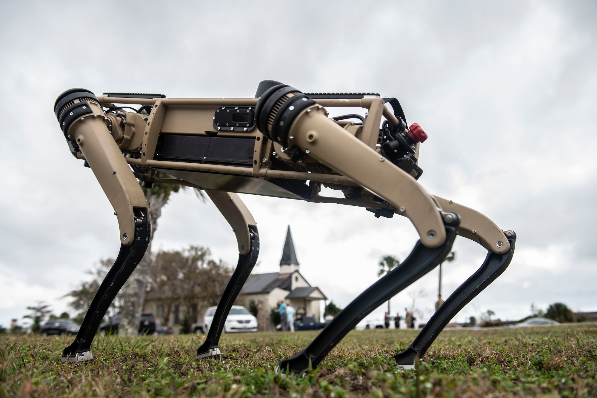 unmanned ground vehicle outside