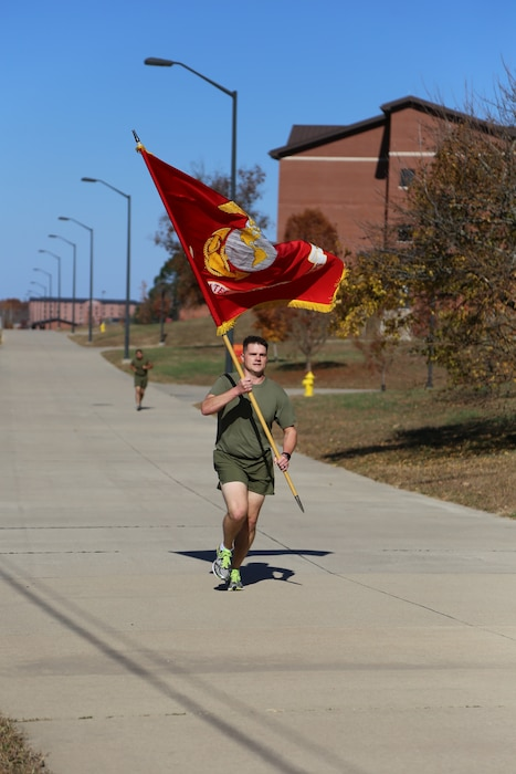 To commemorate 245 years of our Corps service to its Country,  the Marines of the Ozarks from Marine Corps Detachment, Fort Leonarwood ran 245 continuous miles 4-6 Nov 2020 aboard Fort Leonard Wood
