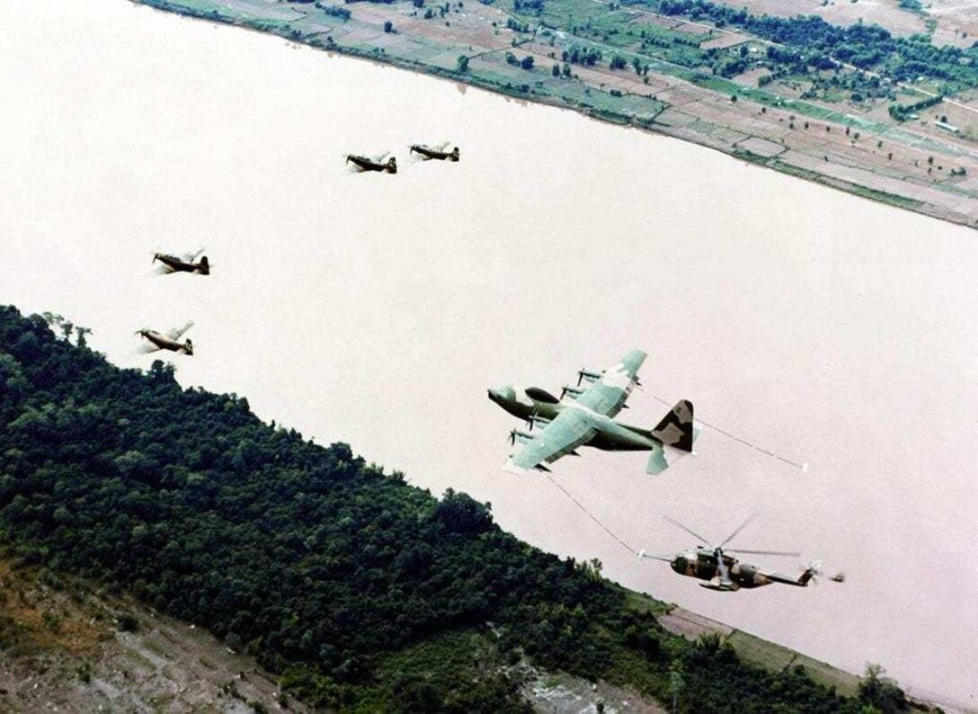 Douglas A-1E, A-1H/J Skyraider, HH-3E Jolly Green Giant