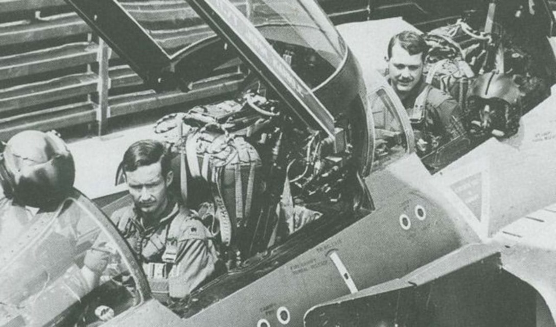 Maj. Robert Lodge and Capt. Roger Locher