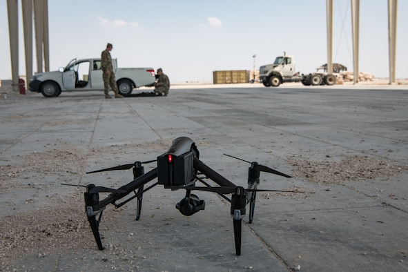 drone resting on ground