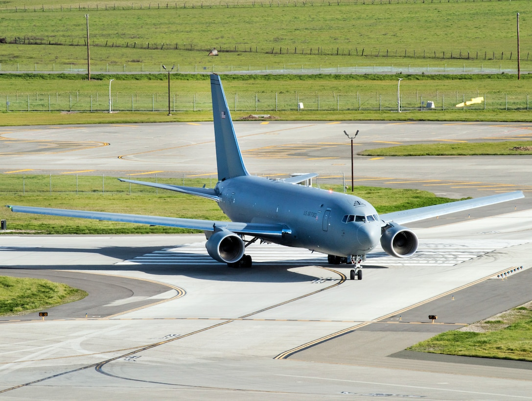 photo of a KC-46 on a runway