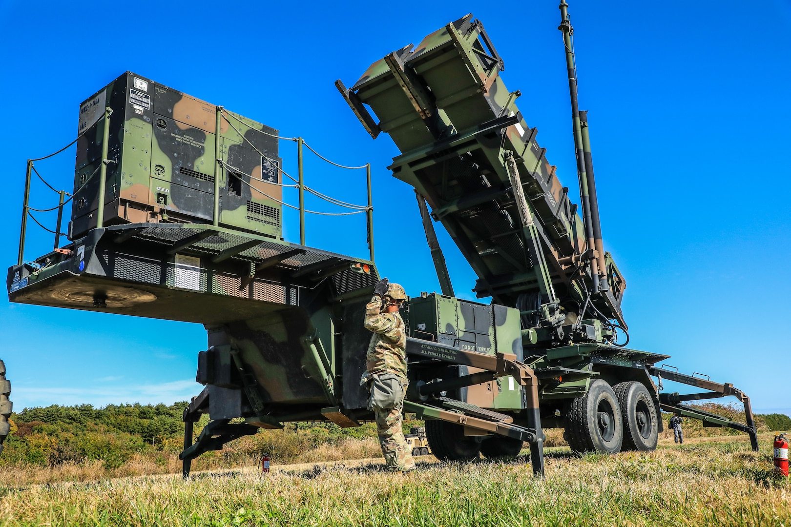 Soldiers with 1st Battalion, 1st Air Defense Artillery Regiment, rehearse battle drills with the PATRIOT long-range, all-altitude, all-weather air defense system capable of countering tactical ballistic missiles, cruise missiles and advanced aircrafts to enhance crew-drill proficiency during Keen Sword/Orient Shield 21 at Misawa Air Base, Japan, Oct. 28. KS/OS 21 is a joint expeditionary bilateral exercise, which allows Japan Self-Defense Forces and U.S. military forces to work together across a variety of areas, enhancing the interoperability of U.S. and Japan forces.