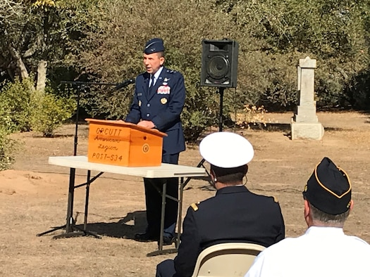 Photo from Veterans Day Ceremony at Pine Grove Cemetery