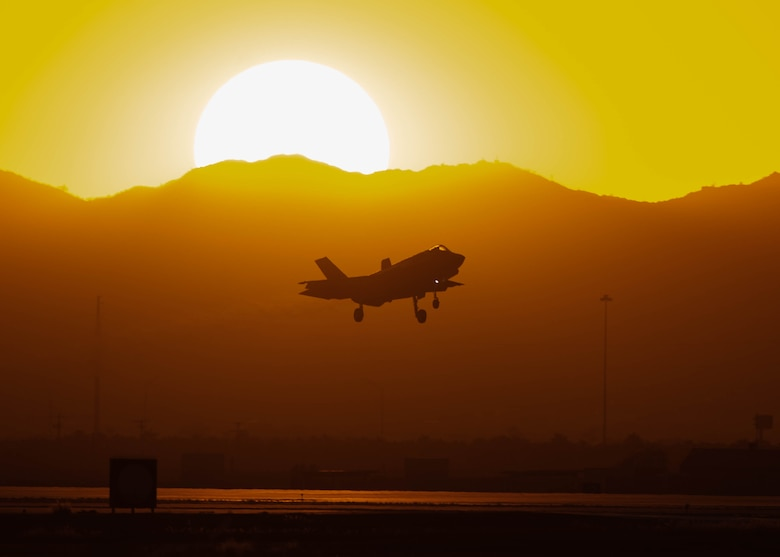 F-35s demonstrate airpower during sortie training