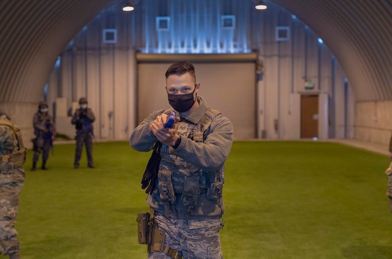 The 35th Security Forces Squadron practiced base defense with their Japanese counterparts during a bilateral Guard and Protect exercise, as part of Keen Sword 21, Oct. 26-28.