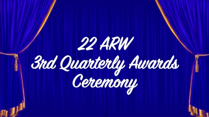 Col. Richard Tanner, 22nd Air Refueling Wing commander, and Chief Master Sgt. Melissa Royster, 22nd ARW command chief, celebrate the winners of the 22nd ARW 3rd quarter awards.