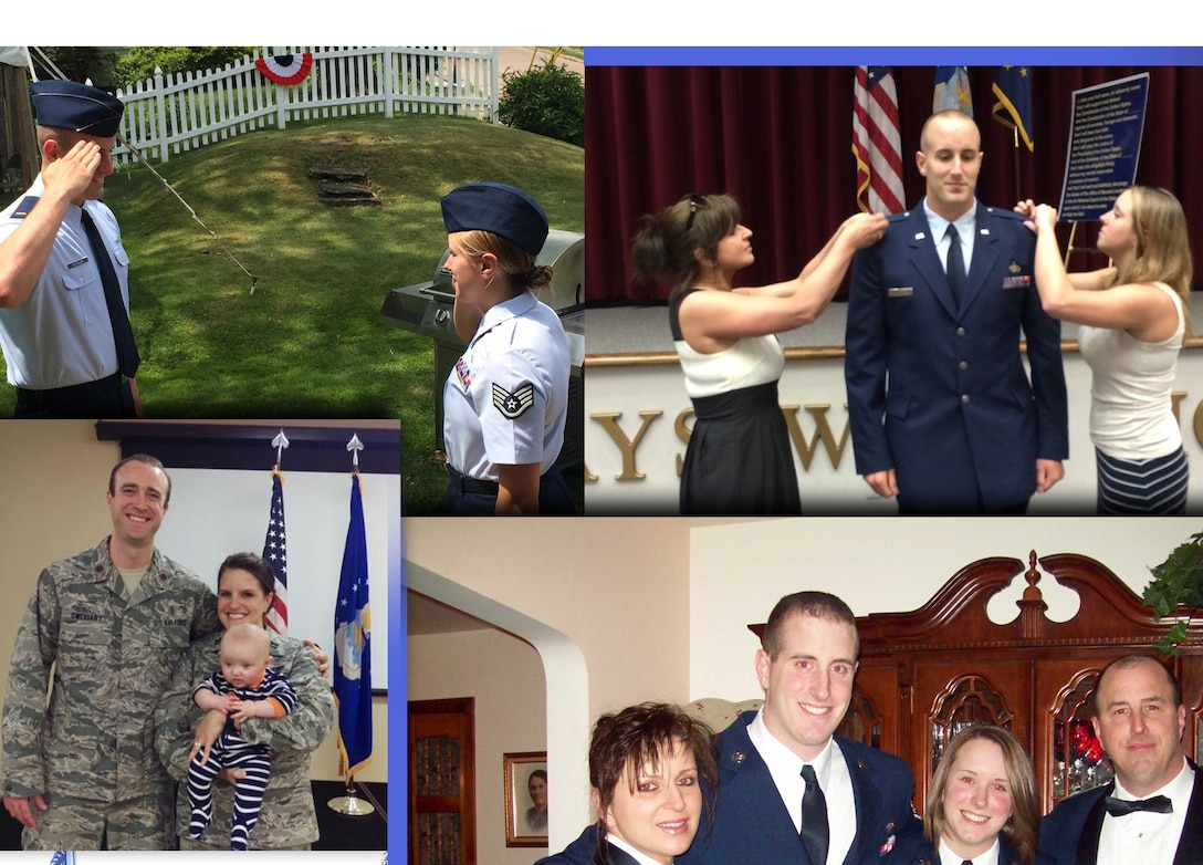 A photo illustration showing members of the Hutsler family, who have had a tradition of serving in the Pennsylvania Air National Guard's 171st Air Refueling Wing near Pittsburgh.
