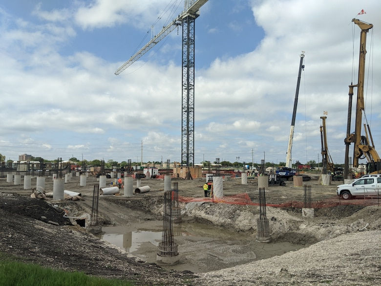 Construction of the Basic Military Training recruit dormitory is underway
