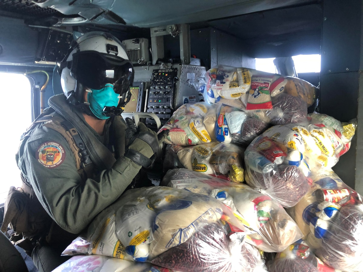 USS William P. Lawrence (DDG 110) provides support to hurricane Eta releif efforts in Honduras.