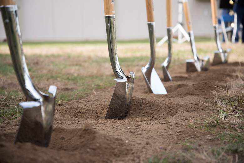 The future site of the National Air and Space Intelligence Center's Intelligence Production Complex III is ready for construction following a groundbreaking event at Wright-Patterson Air Force Base, Ohio, Nov. 5, 2020. The IPC III building will add more than 255,000 square feet and nearly 1,000 analyst workstations to the premier service intelligence center for the U.S. Air Force and U.S. Space Force. (U.S. Air Force photo by Tech. Sgt. Nathan L. Maysonet)