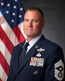 U.S. Air Force Chief Master Sgt. Eric Burke, command chief, 129th Rescue Wing, Moffett Air National Guard Base, California.