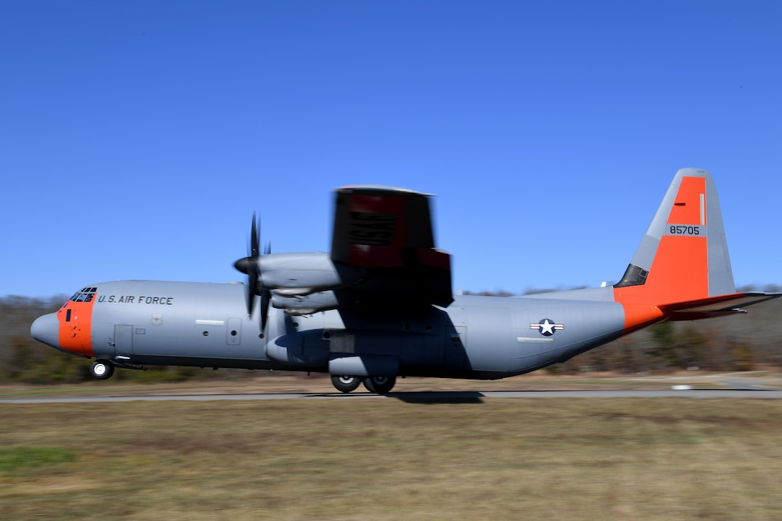 -C-130J lands on makeshift runway