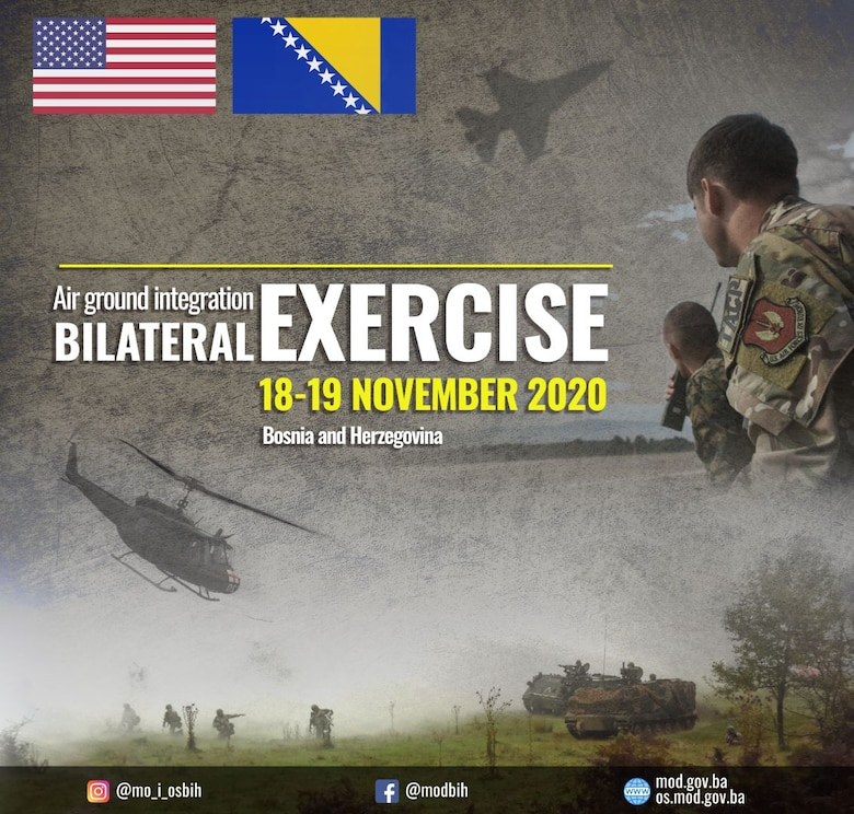 A graphic representing the dates of the exercise.