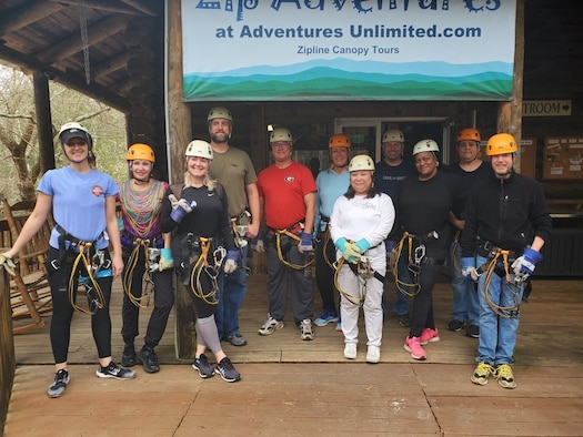 Ciara Travis, third from left, stands with her Civilian Leadership Development Program peers at an off-site experience during their 2019-2020 iteration. The inaugural Air Force Special Operations Command Civilian Development Program was launched in July to deliberately develop the civilian workforce to meet ever-increasing challenges and the changing environment.