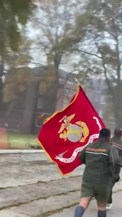 Marines Participating in the Birthday Run