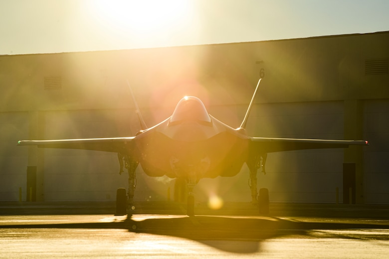 An F-35A Lightning II assigned to the 356th Fighter Squadron prepares to taxi at Eielson Air Force Base, Alaska, Nov. 17, 2020. The 354th Fighter Wing launched 12 F-35As consecutively marking a first for the wing and the U.S. Pacific Air Forces. (U.S. Air Force photo by Senior Airman Keith Holcomb)