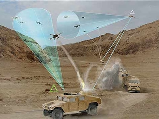 OSI PF Detachment 3 Area of Responsibility contains an engineering breakthrough. The Air Force Research Laboratory at Kirtland Air Force Base, N.M., developed THOR, the Tactical High Power Operational Responder. THOR is a first of its kind electromagnetic weapon system capable of disabling enemy drones. (Courtesy graphic)