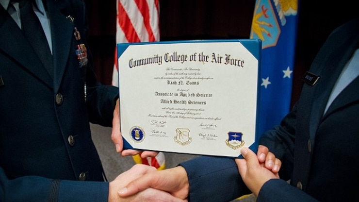 The Community College of the Air Force is a federally-chartered degree-granting institution that serves the United States Air Force's enlisted total force.