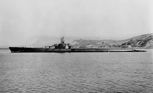 USS Tang (SS-306) is seen near Mare Island Navy Yard in California, Dec. 2, 1943.